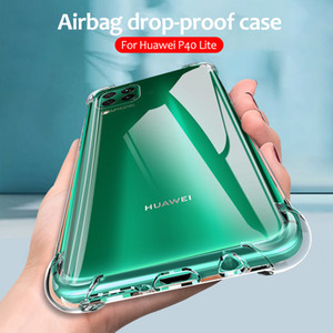 Airbag Drop-proof Case For Huawei P40 Lite Cover Coque P 40 Lite L21 L01 Protective Funda Nova 6 SE 7i Silicone Case Shockproof