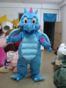 Alta qualidade Real Pictures Deluxe Blue Dragon mascot costume! Direto da fábrica