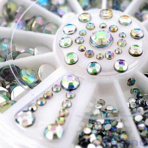 Prego Roda AB cor 3D Rhinestones Decoração Acrílico Dicas Glitter Manicure Ferramenta