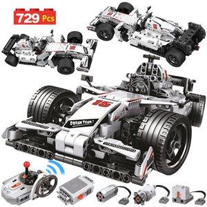 729PCS Città remoto Mattoni di controllo Building Blocks auto Technic RC vettura da corsa F1 elettrici Illuminismo giocattolo per i bambini CX200613