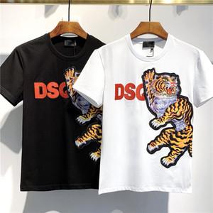 nova camisetas Hip Hop Men T Shirt marca de moda das mulheres dos homens de manga curta tamanho grande camisetas atacado tees tanques D2