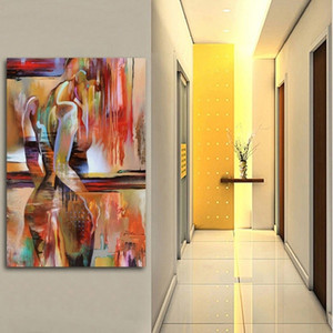 Modern Abstract Art Abstract Beauty Wall Art Pictures Painting Wall Art for Living Room Home Decor (No Frame)