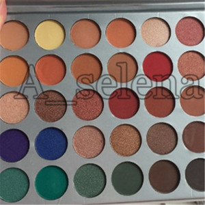 مصبوغ العلامة التجارية الساخنة عالية الجودة Eyeshadow 35 Colors Shimmer Eyeshadow Palette مع لوحة جميلة