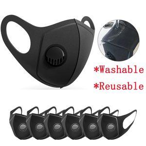 Unisex reutilizable de respiración Máscaras de válvulas PM2.5 Máscara facial anti-polvo Anti polución esponja máscara de protección lavable Respirador LJJA3951