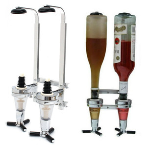 Promotion Inversion 2-Station Liquor Dispenser Bar Butler Wine Dispenser Alcohol Bottle Drinking Pourer Bar accessori