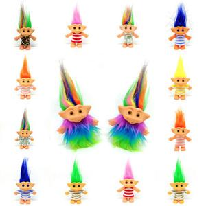 10 * 8 * 6cm Troll Doll con abiti Leprechauns Dam Giocattoli Russ Troll per Nostalgico bambola bambini regalo di compleanno 14 colori Z0410