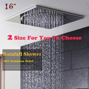 독특한 디자인 중국 공장 공급 16 인치 400x400 스퀘어 욕실 샤워, 천장 마운트 샤워 헤드 강우량