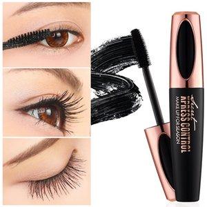 Macfee 1pc 4D Silk Fiber EyeLashe Maquillaje Impermeable Silicone Brush Head Mascara Alargamiento Grueso Curling Black Mascara