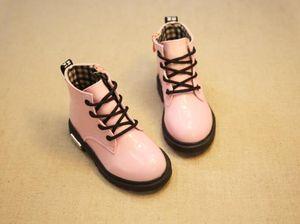 خريف شتاء أطفال مارتن الأحذية أحذية أطفال أحذية عالية بو الجلود بنين طفلة حذاء الثلوج حجم 21-36