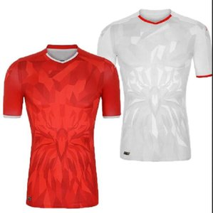 20 21 Tunisia Soccer Jerseys 2020 2021 Msakni Khazri Sliti BEN YOUSSE HAMZA Home away Football Camisetas Classic Shirts Kit
