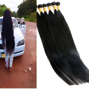 Bakire İnsan Saç Paketler Brezilyalı saç örgüleri İşlenmemiş 8-40Inch atkıların Hint Perulu Malezyalı Vizon İnsan Saç Uzantıları