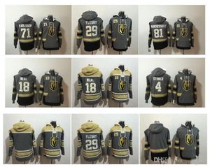 Vegas Golden Knights Marc-Andre Fleury Hockey Jersey Hoodie Pullover 81 Jonathan Markess 71 William Karlsson Stoner зимняя куртка