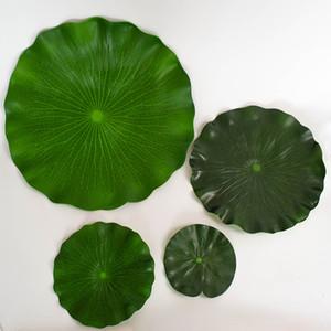 Artificielle Feuille De Lotus Mousse Danse Accessoires De Fleur De Lotus Étang Surface Surface Décoration Simulé Nymphéas L'eau marchant Feuilles 17 64sy L1