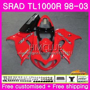 Injection Pour SUZUKI SRAD TL 1000 R TL1000R 98 99 00 01 02 03 16HM.2 TL1000 R TL 1000R 1998 1999 2000 2001 2002 2003 Carénage rouge Hot Factory