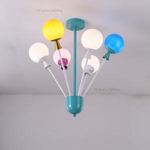 Lámparas de techo para niños personalidad creativa color globo lámpara de dibujos animados princesa lámpara de la habitación simple moderna lámpara de dormitorio leds