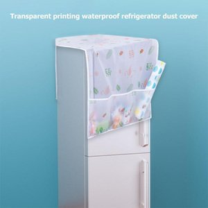 Practical Waterproof Transparent Printing Smoothness Ventilation Refrigerator Dust Cover Home Clean Supplies Decorate