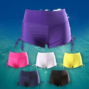 AFqSi ventre de recouvrement de haut cintrée taille maigre grand conservateur boxeur haut exécutant maillot de bain de sac femelle source chaude plage anti-lumière b