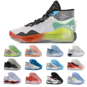 2019 Mvp Kevin Durant KD 12 12S XII EP BeTrue Shoes Men Basketball Shoes Be True Eybl The Rim Elite KD12 The 90s Kid Warriors Size 40-46