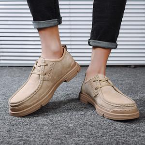 Кожа Походные ботинки Мужчины Спорт на открытом воздухе Mountain Boots Дышащие Мужчины Износостойкие Кемпинг Walking Прогулочные обувь Мужчины