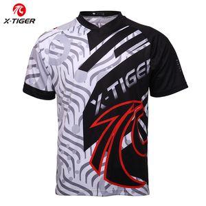 X-Tiger Marque Maillots Downhill VTT Vélo DH Motocross shirt de course de sport Maillots de cyclisme à manches courtes Descente Vêtements