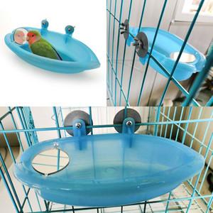 Vogel Wasser Badewanne für Haustier-Vogel-Käfig hängende Schale Papageien Sittich Vogelbad Andere Vogelbedarf