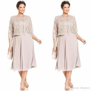 신부 신랑 드레스의 우아한 어머니 재킷 쉬폰 공식 웨딩 파티 가운 플러스 사이즈 긴 소매 사용자 정의