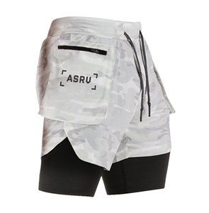 Men Double Layer Liner Casual Workout Sports cordão Shorts para meninos Verão Athleisure Jogger Shorts fitness Calças Quick Dry