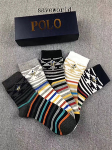 Hochwertiges Marken Letter P Mann-athletische Socken Sport Basketball Lange Cotton Socken Male Herbst Winter Classic Bussiness Socken