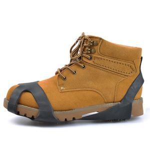눈 스파이크 그립을 등반 한 쌍 10 스터드 미끄럼 방지 얼음 눈 그립 신발 부팅 야외 안티 슬립 견인 클리트 스파이크 쇠 갈고리
