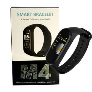 Cheap M4 Smart Band 4 Real Heart Rate Blood Pressure Wristbands Sport Smartwatch Monitor Health Fitness Tracker Smart Watch Wristband PK M3