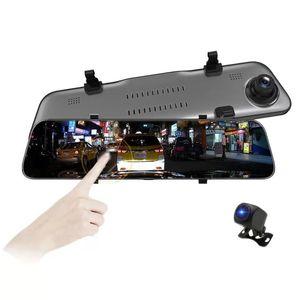 """대하 후사경 차량용 DVR 하이 실리콘 칩 소니 이미지 센서 170 ° + 140 ° FOV 2K + 1080P 기록 캠코더 12 """"대형 터치 스크린 미디어 스트림"""