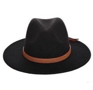 7 cores Sun Outono Inverno Hat Mulheres Homens Fedora Hat Classical Aba larga de feltro de lã Floppy Cloche Cap Chapeau Imitação Cap