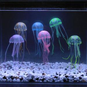 Méduse artificielle Ornement Accueil Nature Faux Bref Fish Tank Décoration créative bel effet rougeoyant Aquarium