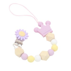 2019 Pacifiers Leashes & Cases Baby Chain Baby Boys Girls Newborn Chain Holder Baby Nipple Feeding Hand Made Beads Soothers Hot