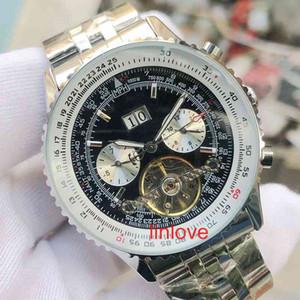 Luxo Mens Relógios Couro Strap automática Relógio de pulso mecânico Negócios Moda Mens Sports Designer Relógios de pulso