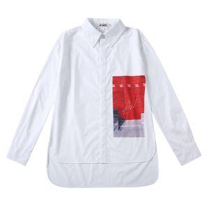 2019 camisa impressão para os homens menino hip hop oversize tee dança overshirt fina camisa casual branco para homens e mulheres de longo casal blusa de manga