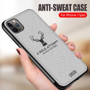 Luxustuch Reh Textur-Telefon-Kasten für iPhone 11 Pro Max Xr Xs X Stoß- TPU weichen Silikon-Hülle für iPhone 7 8 Plus 6s 6
