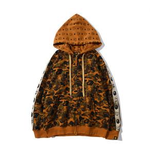 de Nova Men Atacado Desert Terry Camo Cardigan revestimento encapuçado Adolescente Casual solta Hip Hop Cardigan Jacket frete grátis