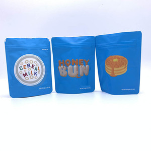 Cookies Mylar Bags 3.5grams Smell Proof for Dry Herb Tobacco Flower Vape In Stock Honey Bun Pound Cake Cereal Milk