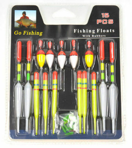 15 Unids Long Tail Fishing Throw Flotadores Mix Tamaño Flotante Bobbers Set Pesca Nuevo