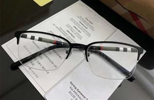Hotsale High-quality BE1323 classical Men Glasses contrasted Rectangular Halfrim Prescription Glasses 54-18-145 fullset case
