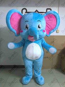 mignons costumes de mascotte d'éléphant shine bébé bleu costumes d'éléphant STAR POLE MASCOT COSTUMES