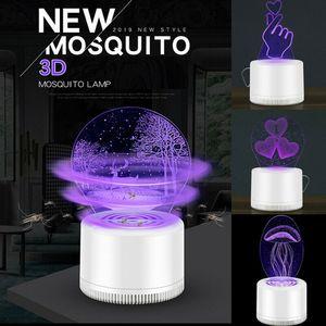 Kreative Elektrische Fliegen Bug Zapper Moskitoinsektenvernichter Startseite Wohnzimmer Schädlingsbekämpfungs 3D LED Lichtfalle