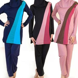 S-6XL manches longues maillot de bain taille plus muslim femmes maillots de bain maillots de bain musulman nylon burkini natation maillot de bain femme Musulmane