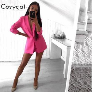COSYGAL collier Costumes d'affaires 2018 Automne 2 Piece Full Set manches et pantalon femmes Deux Set Piece Tenues Lady bureau officiel