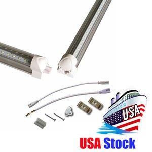 Intégré 8 ft led lumière T8 Tubes V Forme Refroidisseur Porte USA Amérique LED ampoules 4ft 5ft 6ft LED lampes fluorescentes AC85-265V