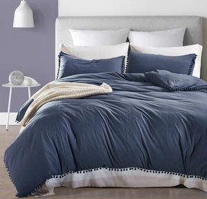 Tinta unita Bedding Set con la nappa Breve Chic Style Sheet copripiumino federa casa Wedding Decoration