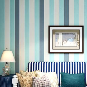 wall paper Modern 3D Embossed Strip Wallpaper For Living Room blue Striped papel de pared Roll Desktop