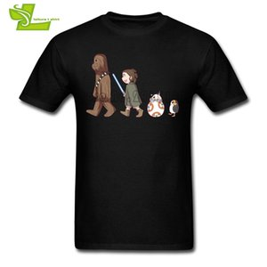 Chewbacca & Rey & Bb8 & Porg Wholesale Discount T Shirt Men's Summer O Neck Personalized Tees Adult New Arrival Oversize Tshirt