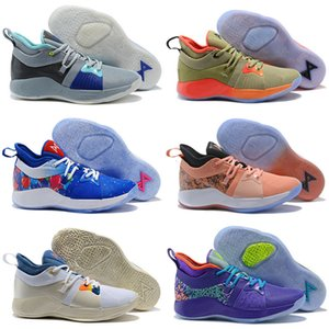 New Paul George 2 PG II Kids Casual Shoes for Cheap top PG2 2S Starry Blue Orange All White Black Casual Shoes